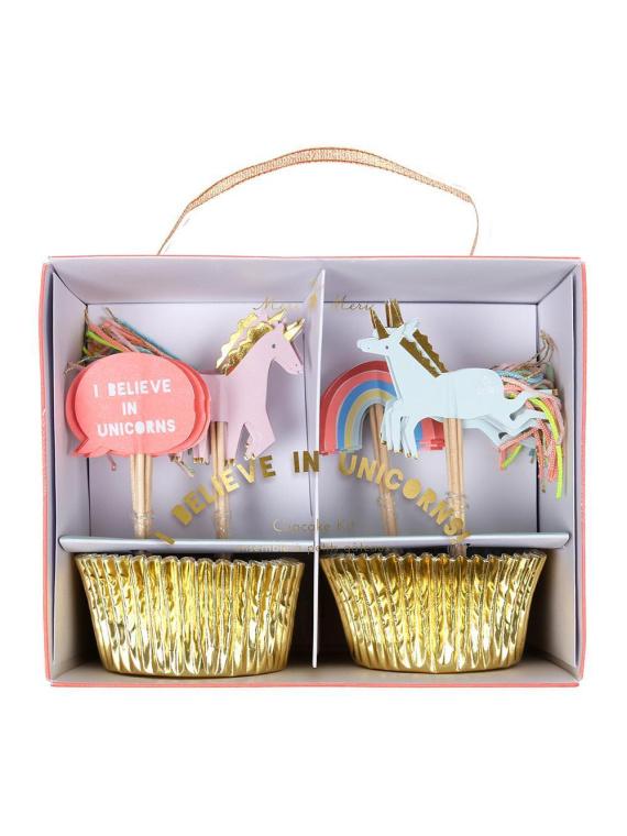 Merimeri koogikaunistuste komplekt koogikaunistus muffinivorm minikoogivorm sünnipäev pidu ükssarvik