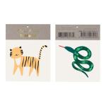 Merimeri ajutine tätoveering pestav tiiger madu laste aksessuaar