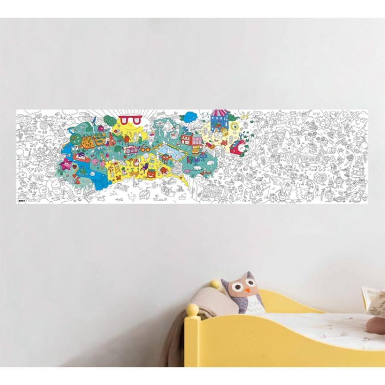 OMY poster seina plakat aksessuaar värvitav laste lastetoa värvimine looming