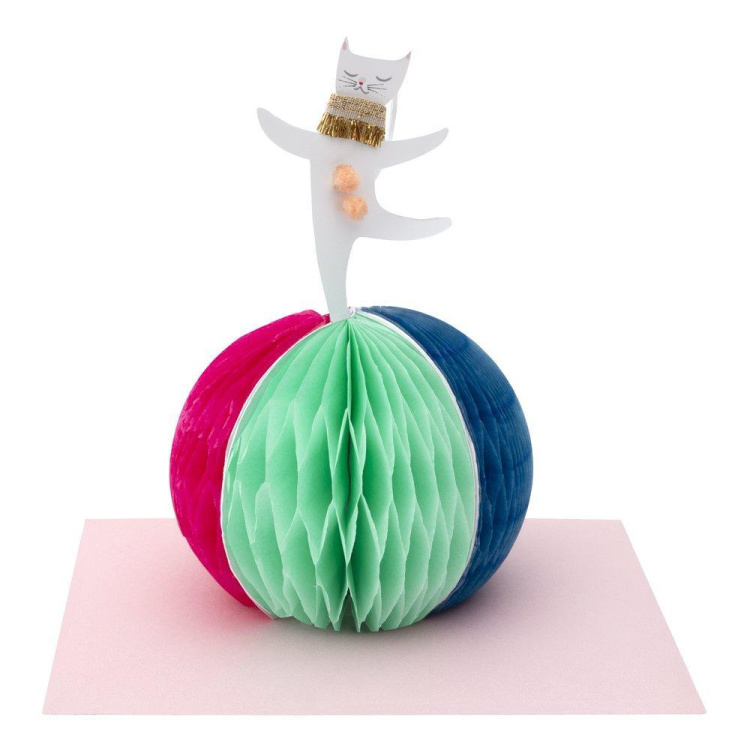 Merimeri kaart sünnipäevakaart kass pall õnnesoovid