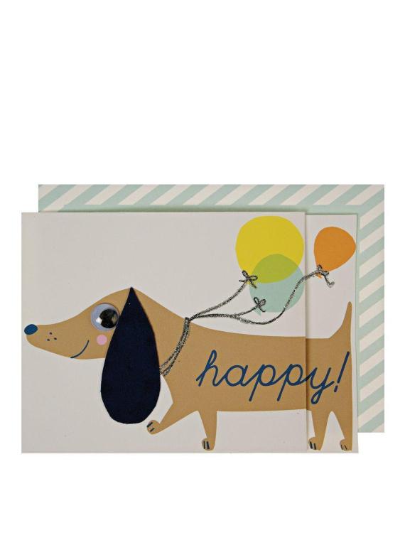 Merimeri sünnipäevakaart koer kingitus taks sünnipäev