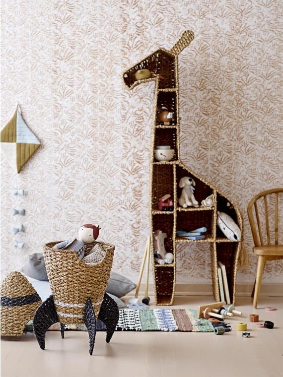 bloomingville lastetoa riiul kaelkirjak sisustus skandinaavia disain rotang punutud raamaturiiul