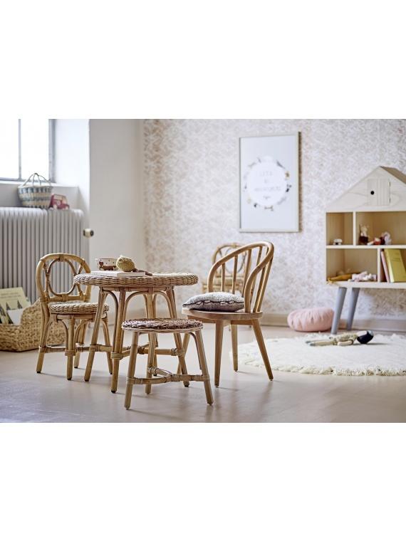bloomingville rotang tool lastetool punutud sisustus skandinaavia disain laud lastelaud