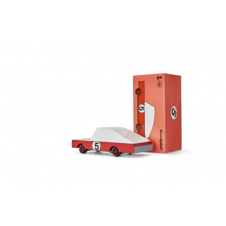 candylab ralliauto võidusõidu auto punane mänguauto mudelauto puidust auto poiste mänguasi