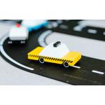 candylab kollane takso mänguauto mudelauto puidust auto poiste mänguasi