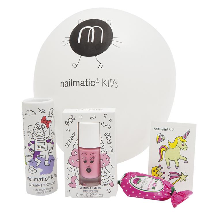 Nailmatic huuleläige laste kosmeetika tüdrukute vegan looduslik mahapestav vee baasil küünelakk kingiidee kingitus