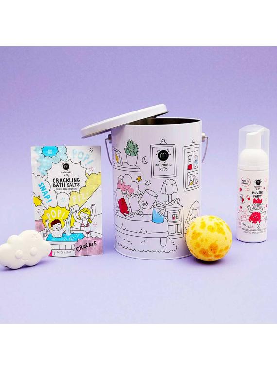 Nailmatic vannikomplekt vegan laste kosmeetika vann orgaaniline seep vannisool vannipall pesuvaht looduslik kingiidee kingitus