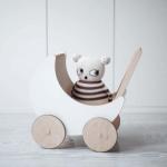 oohnoo nukukäru nukud mänguasi laste tüdrukute kuu puidust nukuvoodi skandinaavia disain valge
