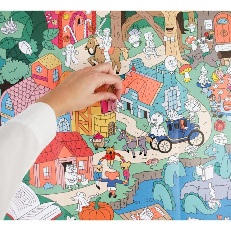 Omy poster seinakaunistus lastetuba kleepsud laste tegevus