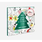 OMY jõulukuusk poster värvitav värvimine värviraamat plakat seinakaunistus laste jõulud päkapiku kaunistus