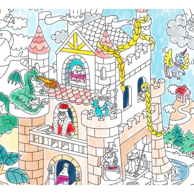OMY värvitav poster seinakaunistus laste värvimine kunst