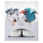 Merimeri koogikaunistused draakon rüütel minikoogivorm muffinivorm sünnipäeva kaunistus aksessuaar poiste