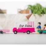 candylab jäätiseauto mänguauto mudelauto furgoon puidust auto poiste mänguasi