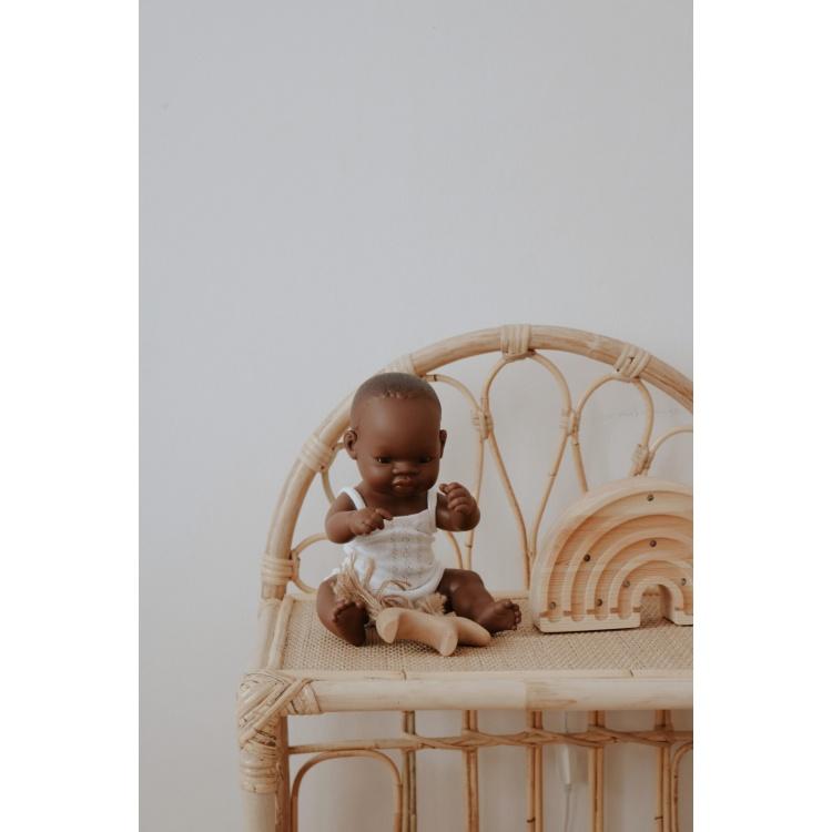 Heybaby öökapp riiul tüdrukute rotang punutud laste boho voodikapp korvmööbel