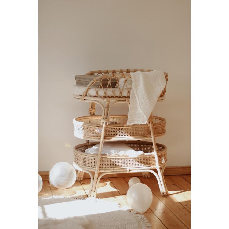 Heybaby rotang mähkimislaud punutud korvmööbel beebi mööbel