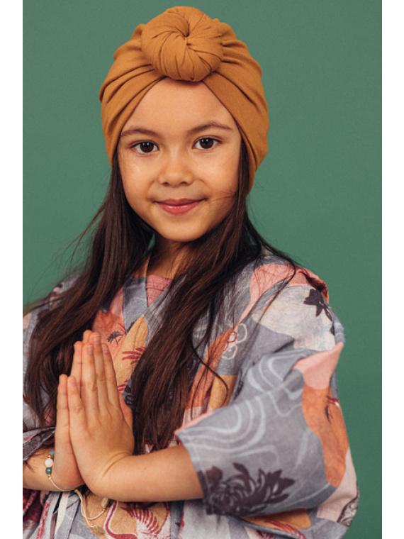Turban peakate müts laste tüdrukute roosa