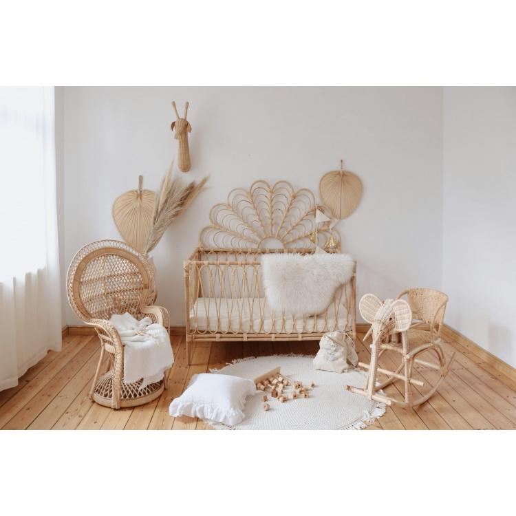 Heybaby häll rotang punutud beebi voodi häll boho võrevoodi korvmööbel voodipeats
