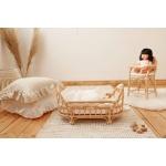 Heybaby rotang nukuvoodi punutud mänguasi tüdrukute nukk häll korvmööbel