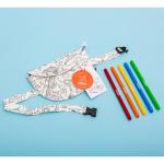 Omy kõhukott värvitav mahapestavad vildikad laste kingitus kingiidee kunst aksessuaar