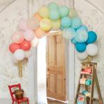 Merimeri õhupallid vikerkaar peokaunistus prokett õhupallikett sünnipäev pidu laste värviline aksessuaar