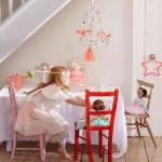 Haldja printsess kostüüm laste tüdrukute pidu halloween roosa tiivad sünnipäev