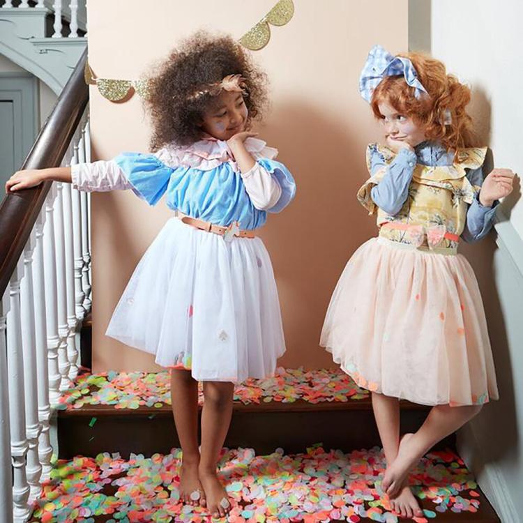 tüllseelik tupsud seelik kostüüm pidu sünnipäev tüdrukute merimeri printsess seelik