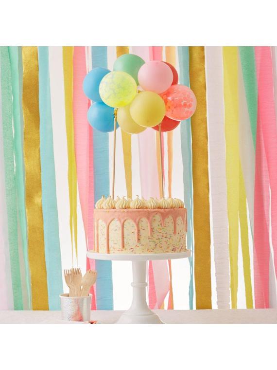 tordikaunistus õhupall vikerkaar sünnipäev kaunistus kook tort laste pidu õhupall värviline õhupallikett lastetort